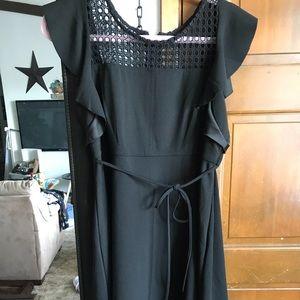 Motherhood black dress